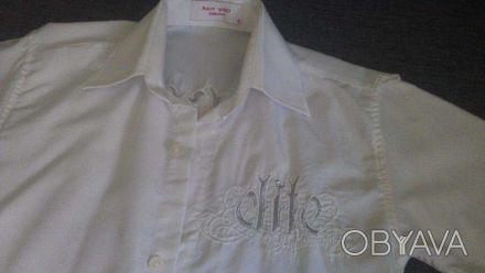 Рубашка белая, для мальчика 8-10 лет, практически новая с оригинальной вышивкой . Чернігів, Чернігівська область. фото 1