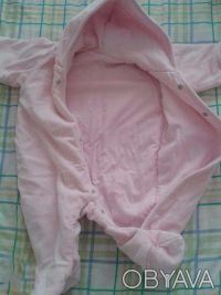 Продам велюровый деми-комбинезон  M ARKS & SPENCER  розовый на девочку,на тонень. Чернігів, Чернігівська область. фото 3