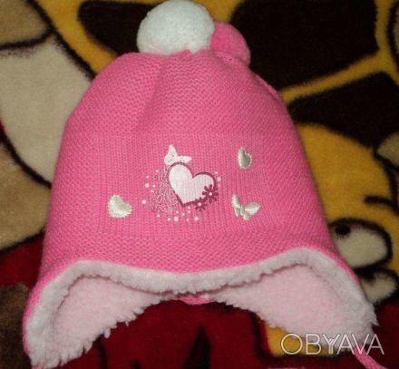 Очень красивая шапочка(весна-осень) для девочки до 1 годика.Состояние идеальное,. Чернігів, Чернігівська область. фото 1