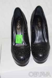 Брендовые Туфли  Стильные женские кожаные черные туфли из США оригинал ALDO Ald. Чернигов, Черниговская область. фото 8