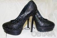 Брендовые Туфли  Стильные женские кожаные черные туфли из США оригинал ALDO Ald. Чернигов, Черниговская область. фото 5