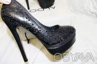 Брендовые Туфли  Стильные женские кожаные черные туфли из США оригинал ALDO Ald. Чернигов, Черниговская область. фото 6