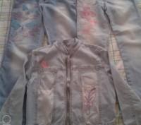 Продам гламурный джинсовый набор Gloria Jeans курточка и 2 пары джинсов, всё с в. Чернігів, Чернігівська область. фото 9