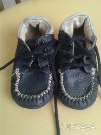 Продам демисезонные ботиночки Haribo(Германия),тёмно-синего цвета,р.21,по стельк. Чернігів, Чернігівська область. фото 1