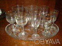Продам набор стаканчиков, поднос и фужер для водки или коньяка. Чернигов. фото 1