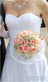 Свадебное платье Jasmine Empire. А-силуэт. Белое. р. 46-48. Харьков. фото 1