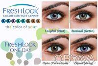 FreshLook ONE-DAY - однодневные цветные контактные линзы. Донецк. фото 1