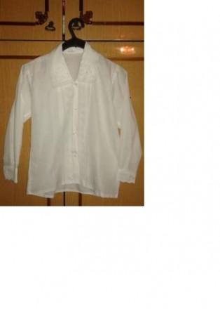 Блузка детская белая. Апостоловo. фото 1