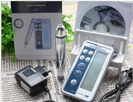 Новая цифровая модульная машинка PREMIUM CHARMANT для татуажа +10 игл БОНУСОМ. Киев. фото 1
