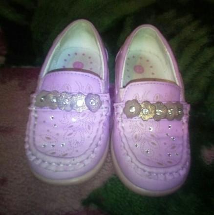 Туфли для девочки. Марганец. фото 1