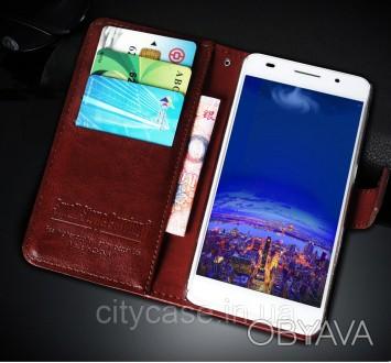 Чехол книжка для Xiaomi redmi 5 plus Luxury (коричневый)