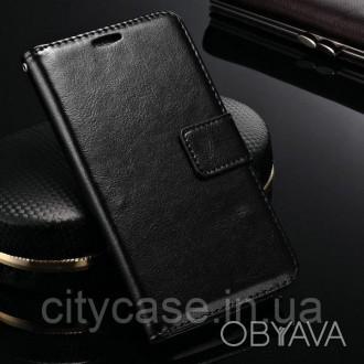Чехол для Huawei P smart Z книжка Luxury (черный)