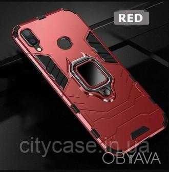 Чехол для samsung a10s противоударный Transformer Ring (красный)