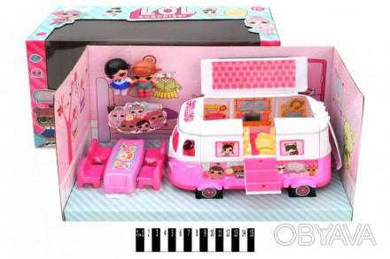Лялька   LOL  з автобусом-трансформером (коробка ) ТМ855В р.39,5*16*21,5см (шт.)