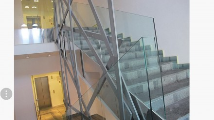 Изготавливаем и устанавливаем лестницы из стекла, перила из стекла, стеклянные о. Киев, Киевская область. фото 4