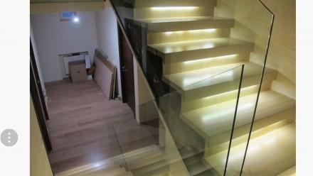 Изготавливаем и устанавливаем лестницы из стекла, перила из стекла, стеклянные о. Киев, Киевская область. фото 3