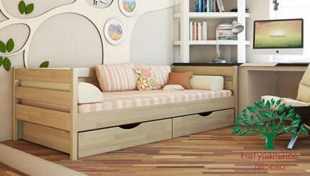 Кровать детская деревянная Нота из натурального Бука.. Чернигов. фото 1