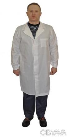 Халат белый рабочий, мужской халат с бязи
