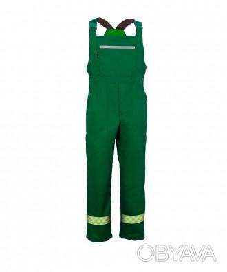 Полукомбинезон рабочий, полукомбинезон зеленый