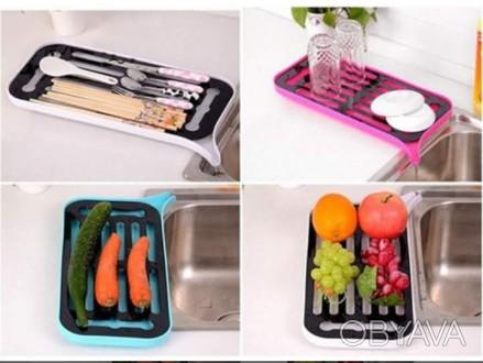 сушка-фильтр и поднос для мытья и сушки овощей посуды
