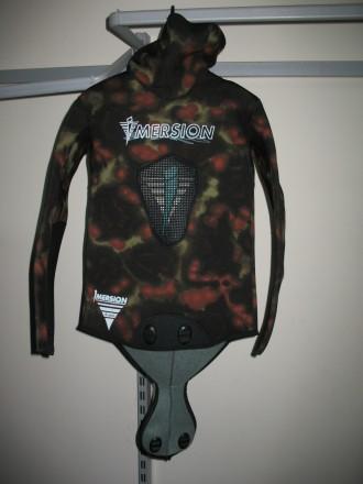 Куртка с капюшоном IMERSION SERIOLE CAMO 5 мм камуфляж нейлон- пора, р.3 / 48-50. Запорожье. фото 1