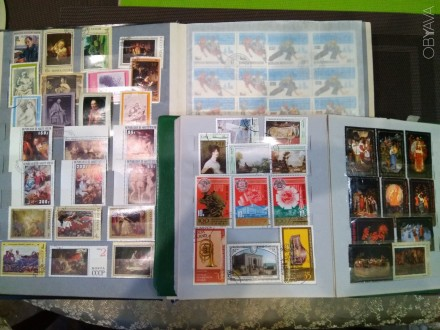 2 альбома с марками СССР и других на то время-братских стран-куба,вьетнам,монгол. Днепр, Днепропетровская область. фото 1