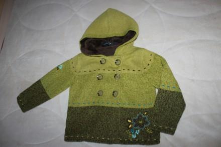 Теплая кофта с меховым капюшоном на 4 года. Запоріжжя. фото 1