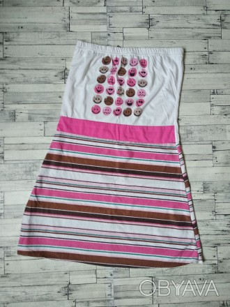 Летнее платье Golden Valley сарафан без бретелек женское  смайлики