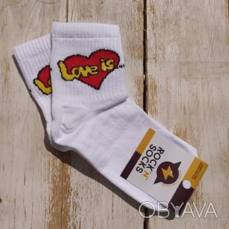Носки с принтом Лав Из Love is носки с приколами