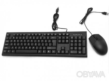 Комплект Клавиатура + мышка CMK-858 Проводные. Киев, Киевская область. фото 1