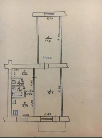 Продается 2-ком. квартира.  Этаж: 3/5  Тип дома: кирпич  Под ремонт. Супер место. Полтава, Полтавская область. фото 3