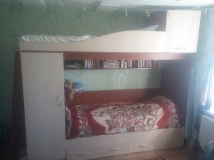 Продам 2-х ярусную кровать в отличном состоянии. Кривой Рог. фото 1