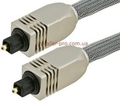 Оптический цифровой аудио кабель F-F 0,90 м SPDIF Toslink Monoprice. Харьков. фото 1