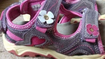 Классные замшевые босоножки для девочки. Полтава. фото 1