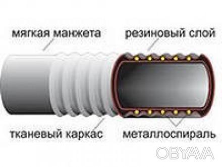 Рукав O 50 мм напорно-всасывающий (ВОДА) В-2-50-10 ГОСТ 5398-76