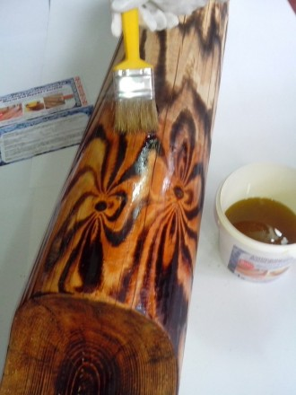 Льняное масло с воском для отделки срубов, деревянных домов.. Житомир. фото 1
