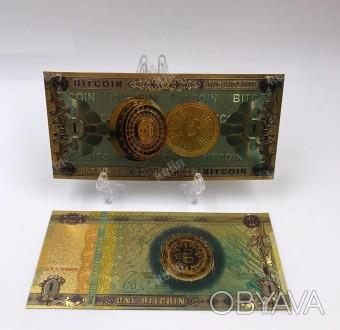 Биткоин. Банкнота. Купюра. Сувенир
