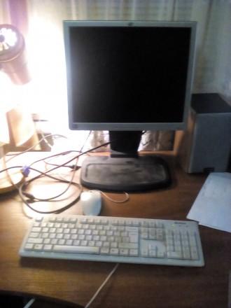 продам отличный настольный компьютер+монитор+клавиатура+мышь.... Мена. фото 1