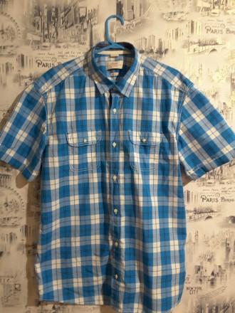 Фирменная рубашка с короткими рукавами, S.Oliver, L, Германия. Пирятин. фото 1