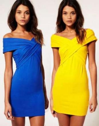 Платье желтое ASOS - Yellow Asos Mini Bodycon Dress with Cross Front. Чернигов. фото 1