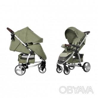 Коляска прогулочная CARRELLO Vista CRL-8505 Olive Green в льне +дождевик