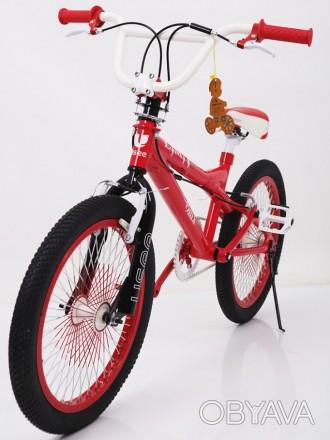 Детский двухколесный велосипед BMX-20 красный  20 дюймов