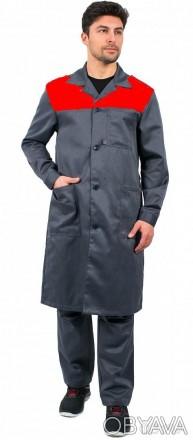 Серый мужской рабочий халат