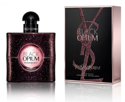 Yves Saint Laurent Black Opium туалетная вода 90 ml. (Ив Сен Лоран Блек Опиум). Киев. фото 1