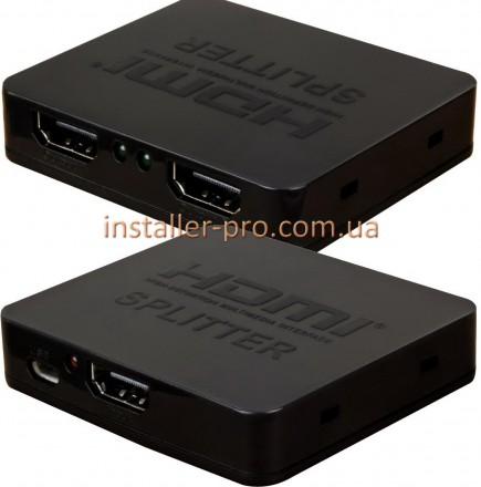 Ультратонкий сплиттер 1X2 HDMI версия 1.4 1080p 3D, корпус пластик, с питанием о. Харьков, Харьковская область. фото 3