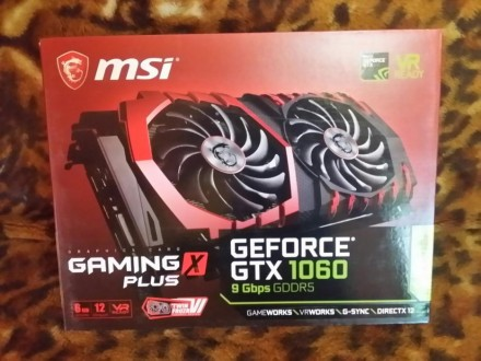 Видеокарта MSI GeForce GTX 1060 GAMING X+ 6G. Киев. фото 1