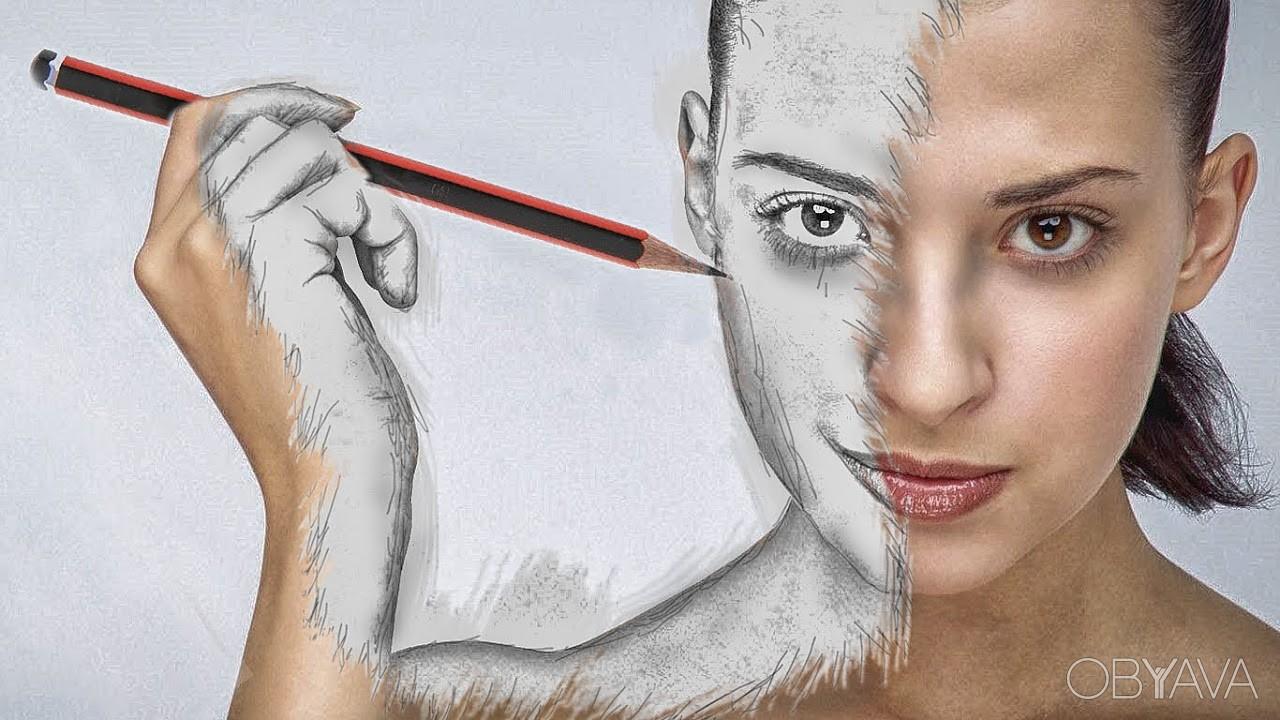 Человек рисующий себя картинки