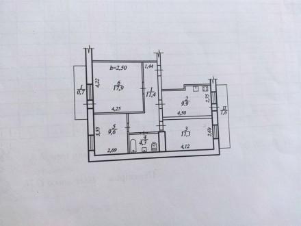 Продам видовую 3-комнатную чешку с ремонтом в кирпичном доме на ж/м Красный Каме. Днепр, Днепропетровская область. фото 14