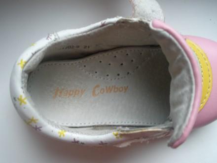 Продам красивые кожаные ботиночки на девочку фирмы Happy Cowboy в очень хорошем . Чернигов, Черниговская область. фото 7