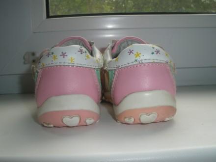 Продам красивые кожаные ботиночки на девочку фирмы Happy Cowboy в очень хорошем . Чернигов, Черниговская область. фото 3